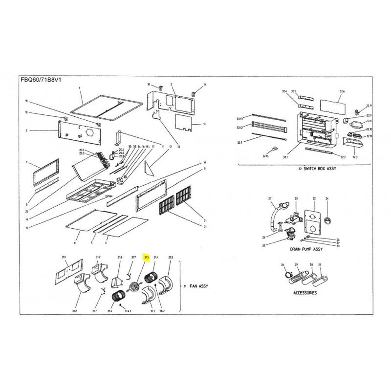 MOTOR VENTILADOR UNIDAD INTERIOR DAIKIN FBQ60B8V1