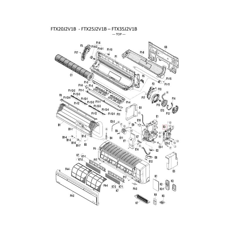 Placa de control split interior DAIKIN modelo FTXB25C2V1B 5014998