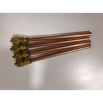 """valvula obus con tubo soldar 1/4"""" + tapon"""