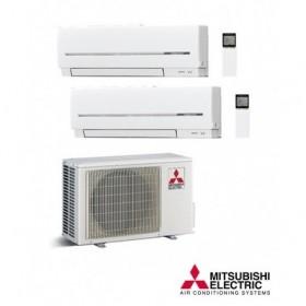 Aire acondicionado MITSUBISHI ELECTRIC 2x1 R32 MXZ-2F42VF + 1 UD MSZ-AP25VG + 1UD MSZ-AP20VG