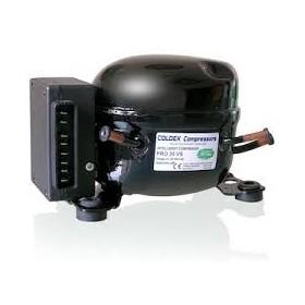 Compresor TD80VS-PRO35VS CILINDRADA: 3.5 CM3 CORRIENTE CONTINUA 12V/24V DC R134A BAJA/MEDIA TEMPERATURA