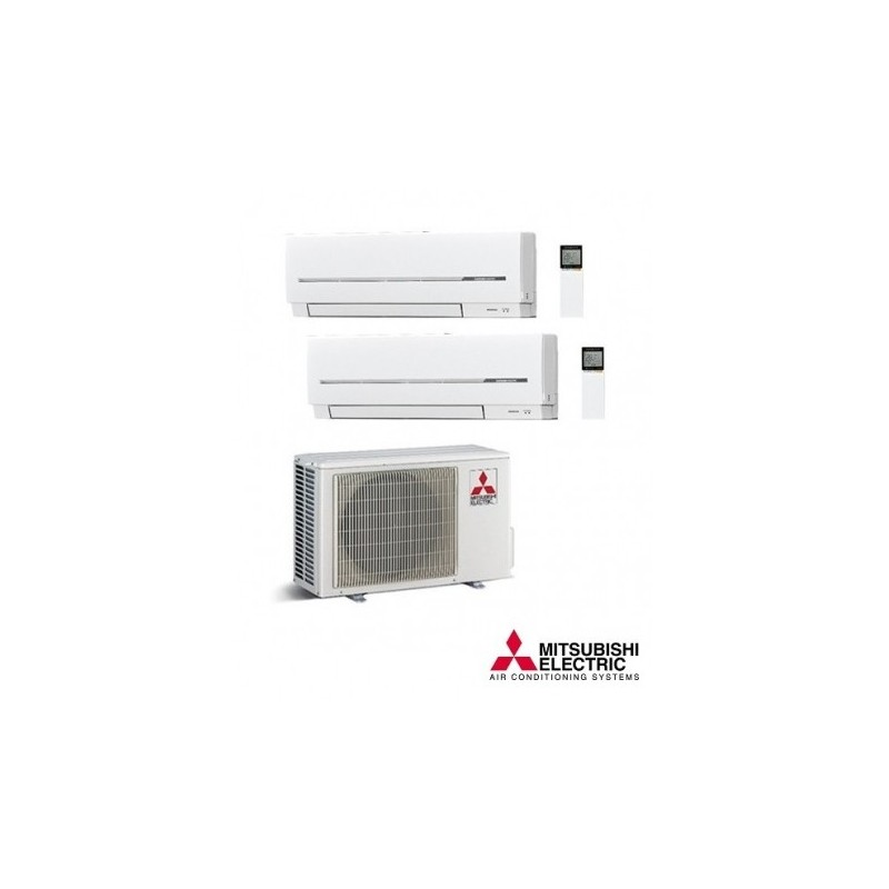 Aire acondicionado MITSUBISHI ELECTRIC 2X1 R32 MXZ-2F53VF + 1 UD MSZ-AP35VG + 1UD MSZ-AP20G