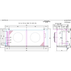Evaporador cubico THERMOKEY 27.6KW desescarche por gas caliente