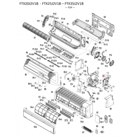 Placa de control split interior DAIKIN modelo FTX35J2V1B 5014999