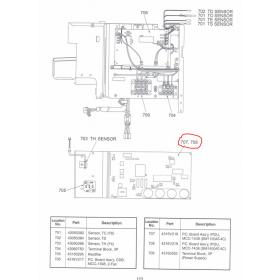 Placa inverter exterior TOSHIBA modelo RAV-SP1102AT-E codigo 4316V218
