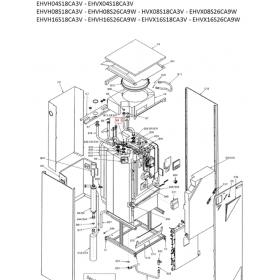 Cuerpo válvula 3 vías agua unidad exterior DAIKIN modelo EHVX16S26CA9W
