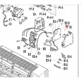 Placa control + receptora leds split interior DAIKIN modelo FTXS35CVMB 148080J