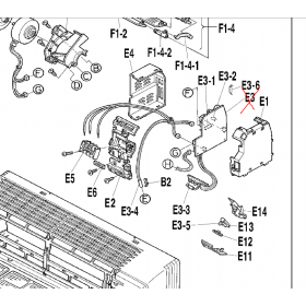 Placa control + receptora leds split interior DAIKIN modelo FTXS35CVMB
