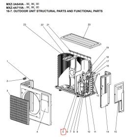 COMPRESOR MITSUBISHI ELECTRIC modelo MXZ-4A71VA-E4