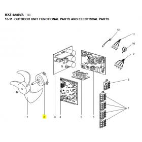 Motor ventilador unidad exterior Mitsubishi Electric MXZ-4A80VA-E1