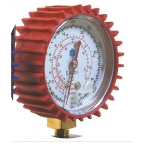 Manómetro de baja presión de Ø 80 mm amortiguado sin glicerina 125-P/2 rojo