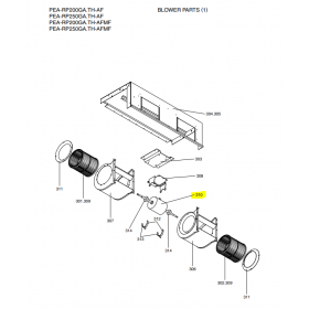 Motor ventilador unidad interior Mitsubishi Electric PEA-RP200GA.TH-AF