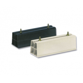 Base soporte pavimento en PVC rígido 450N de 450 x 100 mm color negro (Juego de 2 unidades)