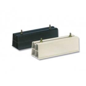 Base soporte pavimento en PVC rígido 1000I de 1000 x 100 mm color marfil (Juego de 2 unidades)