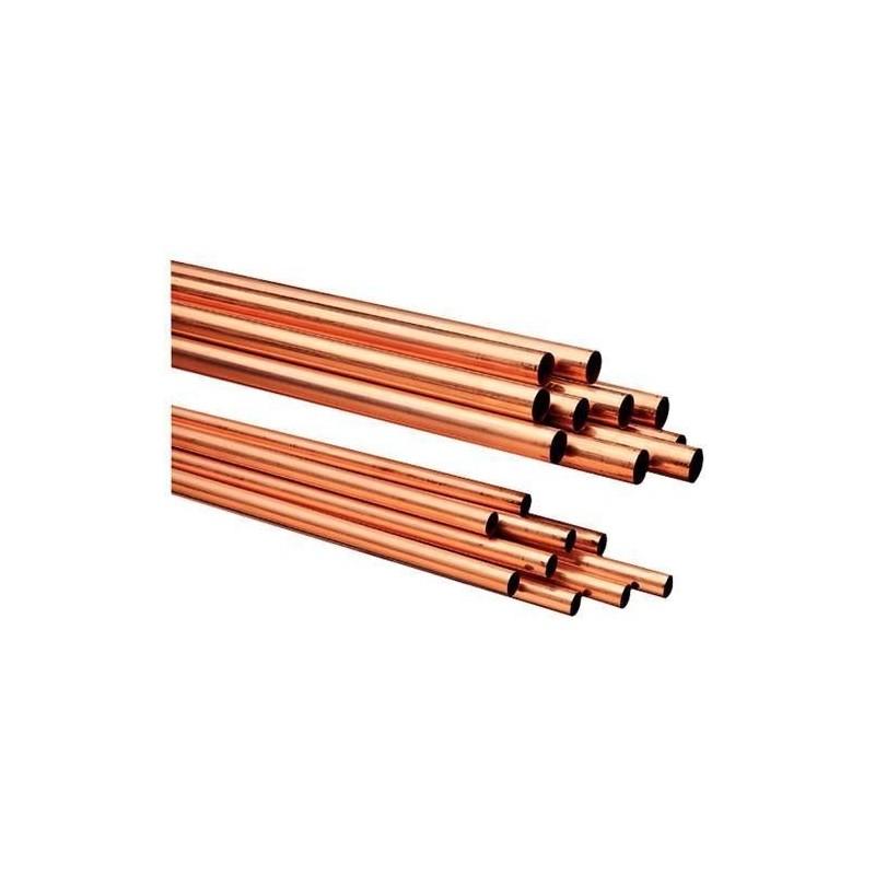 """Tubo de cobre rígido reforzado 5 metros para CO2 subcrítico de 1-1/8"""" x 1,25 mm"""