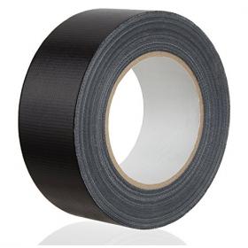 Rollo de cinta americana negra de 50 m x 50 mm PC 600-N
