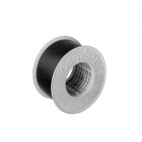 Rollo cinta auto-adhesiva COROPLAST 302 negra de 25 m x 25 mm