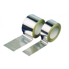 Rollo cinta adhesiva de aluminio puro 50mm x 50mts color aluminio