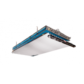 Persiana PVC doble canal nº10 standard para evaporador estático
