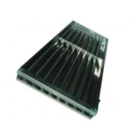 Persiana Galvanizado doble canal nº10 standard para evaporador estático