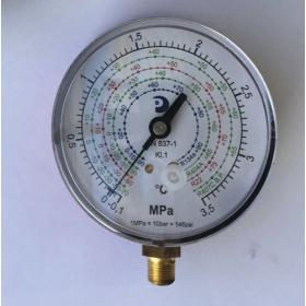 Manómetro de baja presión de Ø 80 mm amortiguado sin glicerina 125-P/2 azul