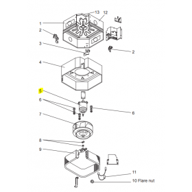 Motor ventilador unidad interior CASSETTE MITSUBISHI PLA-RP71BA2.UK