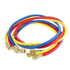 """JUEGO 3 MANGUERAS carga flexible de 1/4"""" x 1500 mm"""