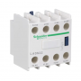 Bloque de contacto Schneider Electric 2 NA + 2 NC (Frontal) LADN 22