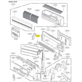 Rodete para ventilador unidad interior LG modelo S12AM N41G (ASNW1264GG1)