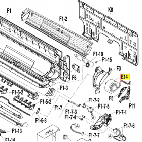 MOTOR VENTILADOR UNIDAD INTERIOR DAIKIN FTXS35J2V1B 5010287