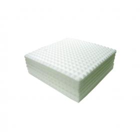 Plancha piramidal ignífuga de espuma de melamina BASOTEC-40/25 (Paquete de 8 planchas)